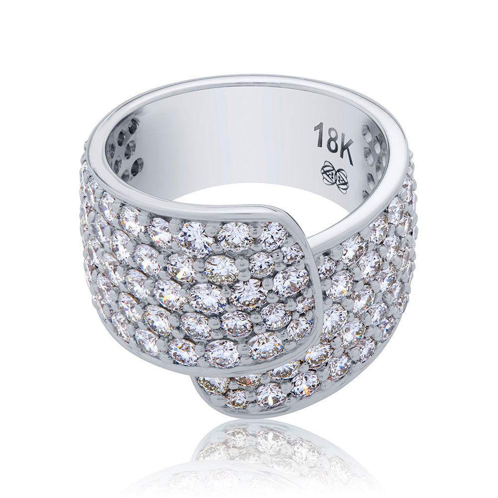 Tendance Diamond Ring in 18K Gold