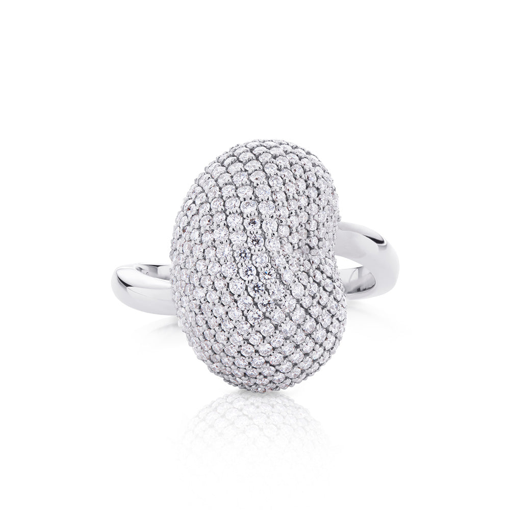 Tendance Diamond pavé Ring in 18K Gold