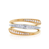 Pas de Trois Triple Band Diamond Ring in 18K Gold