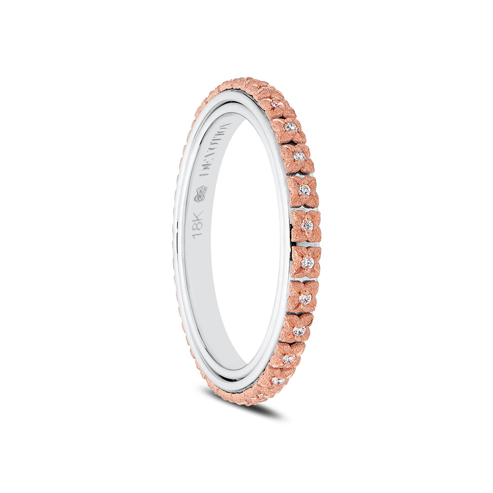 Flora Diamond Wedding Band