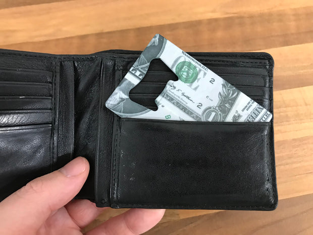 Dollar Wrapic Credit Card Opener - Bar Blades