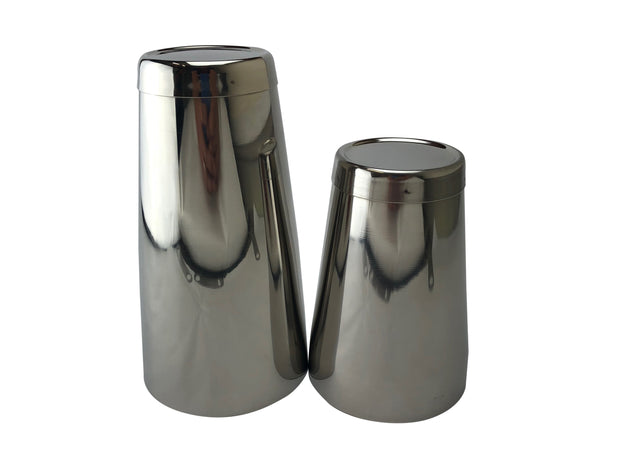 Stainless Steel Silver 28oz & 18oz Boston Cocktail Weighted Shaker Tin on Tin - Bar Blades