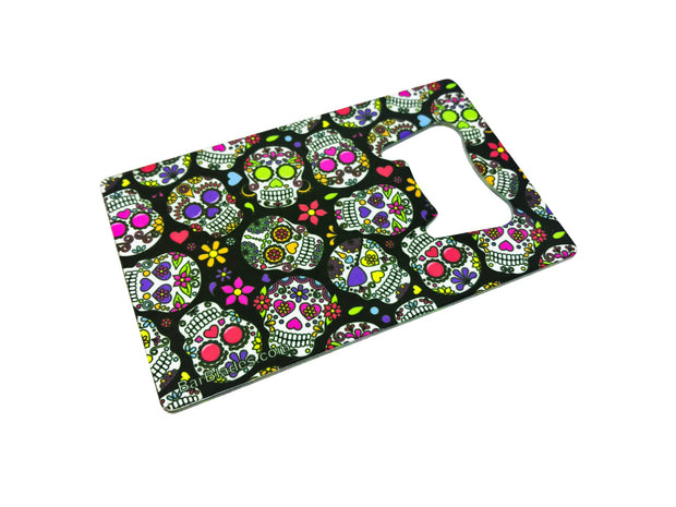 Sugar Skulls Wrapic Credit Card Bottle Opener - Bar Blades