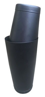 Black 28oz & 18oz Boston Cocktail Weighted Shaker Tin on Tin - Bar Blades
