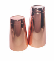 Copper Cocktail Set, 28oz tin, 18oz tin and a 4 Prong Strainer - Bar Blades