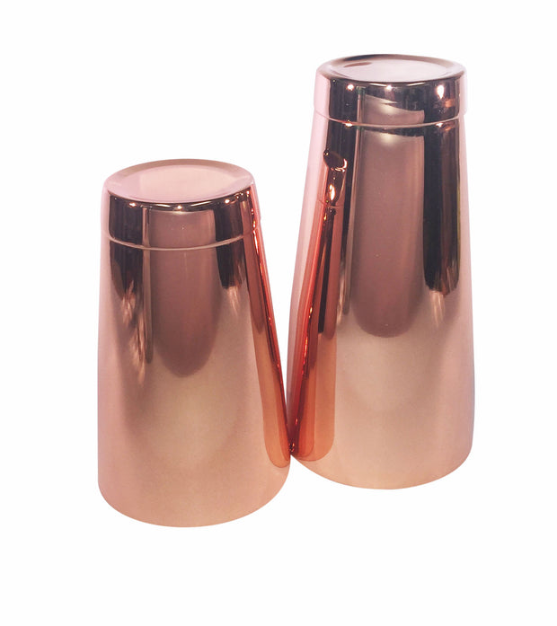 Copper Tin Set, 28oz & 18oz Boston Weighted Cocktail Shakers - Bar Blades