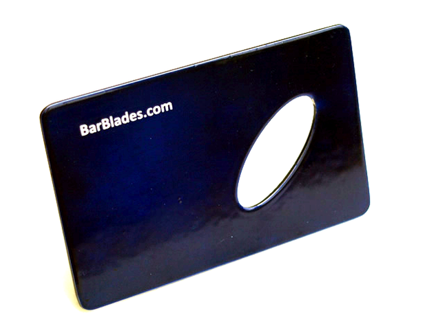 Electric Blue Credit Card Bottle Opener - Bar Blades