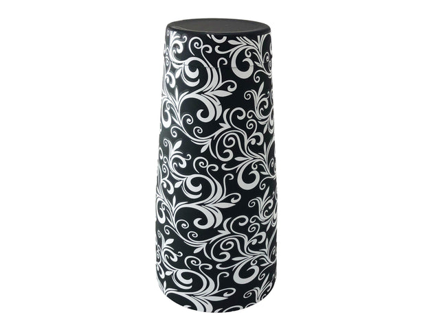 Black 28oz Boston Cocktail Shaker Tin Weighted Flower Pattern