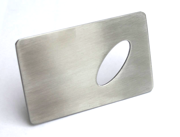 Stainless Steel Credit Card Opener  - Bar Blades