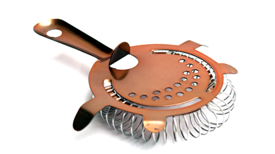 7 Piece Copper Cocktail Set, Tin, Glass, 2 Strainers, Spoon, Muddler and Jigger