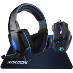 Pro Gaming Headphone Headset Headband + 7 Buttons Pro Game Mice Gaming Mouse + Gaming Mousepad *BUNDLE*