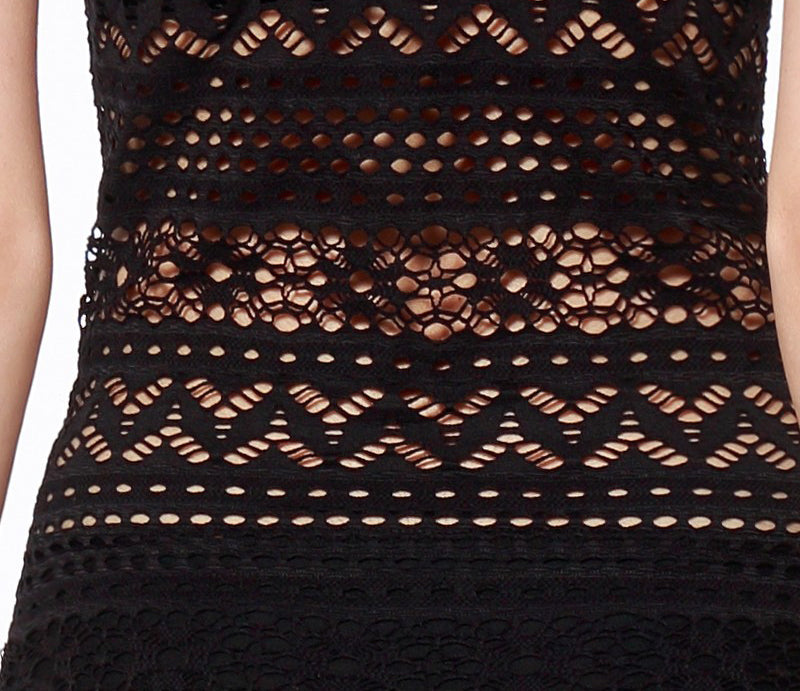Black Swimwear with Lace Details