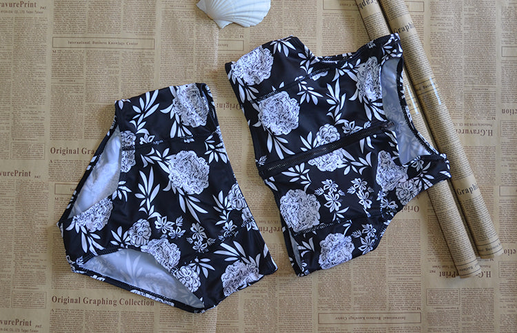 Two Pieces Printed Swimsuits