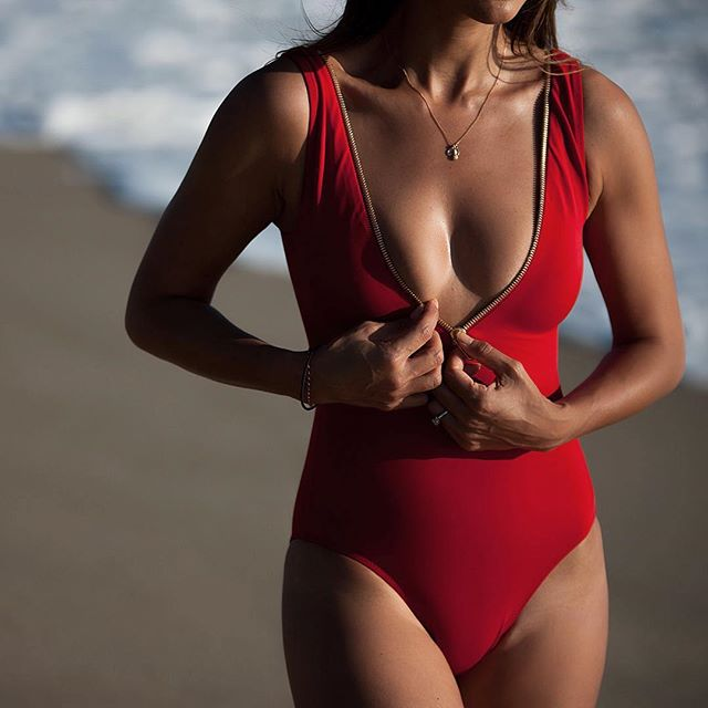 Red Sexy Deep V Swimwear