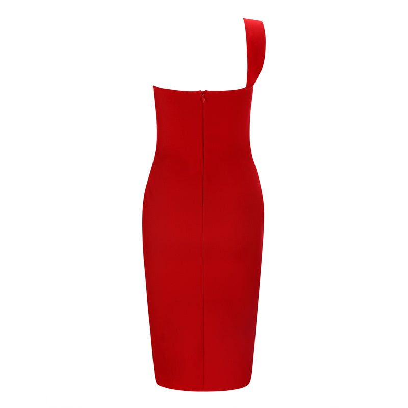 One Shoulder Elegant Pencil Dress
