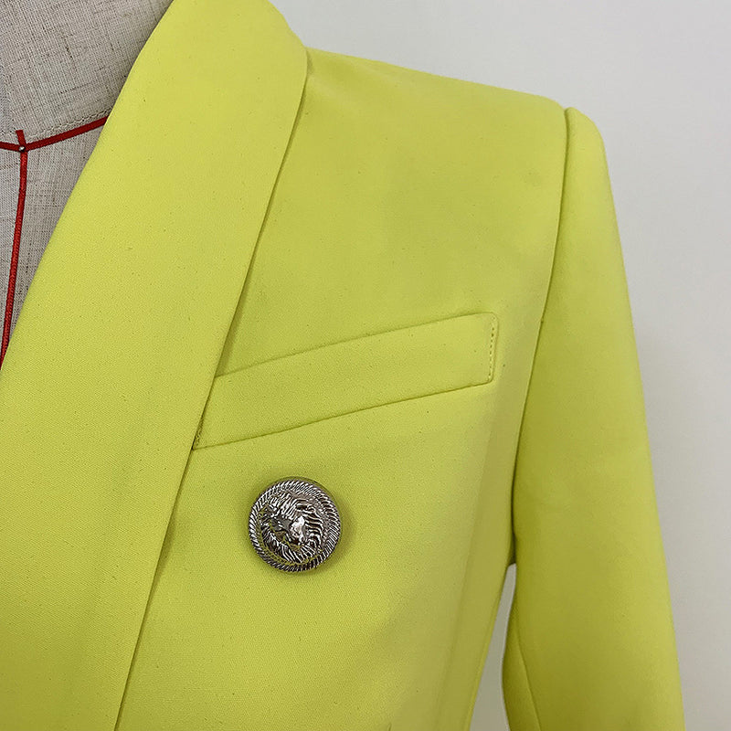 Ladies Jackets Yellow Long Suit