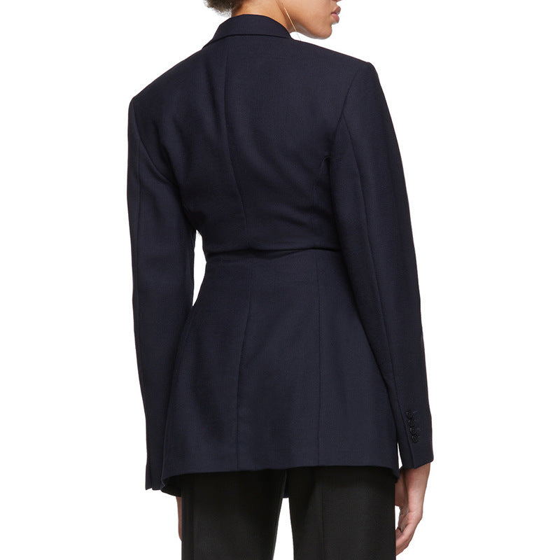 British Wind Pleated Waist Jacket
