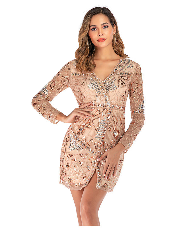 2019 New Fashion Sequins Dress