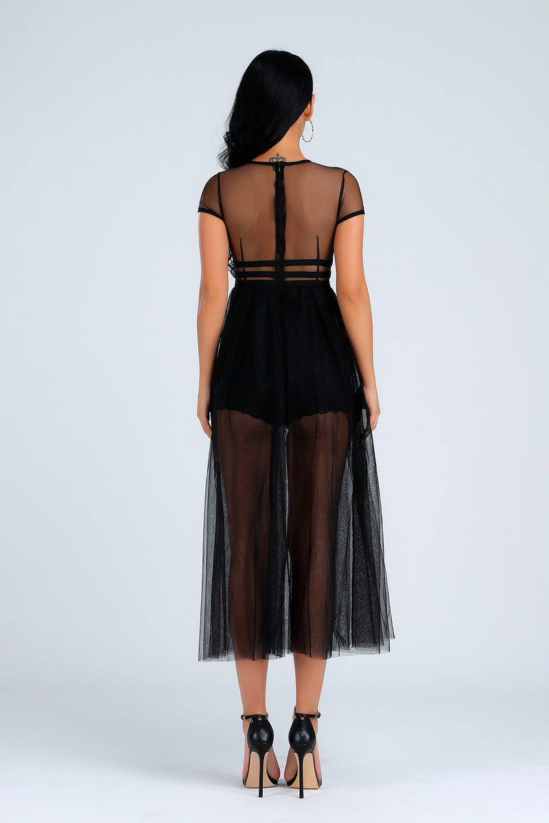 See Through Summer Evening Party Dress