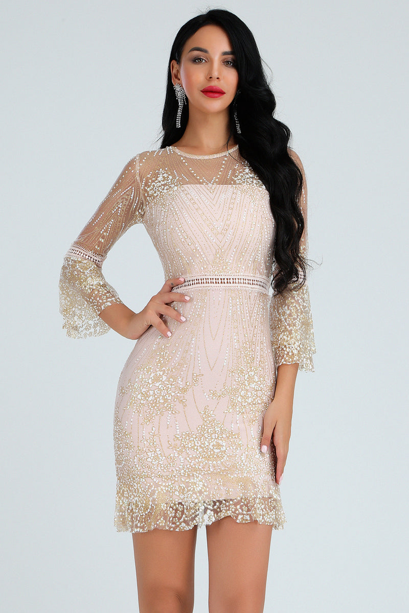 Long Sleeve Lace A word dress