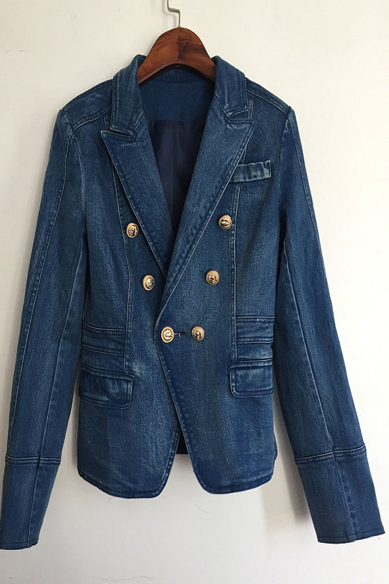 Long Sleeve Denim Suit Slim Jacket 2019 autumn and winter