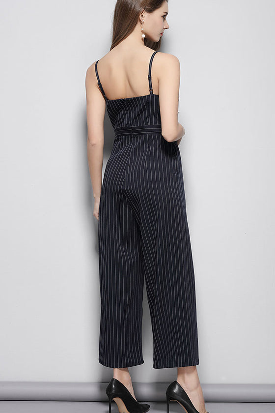 Spaghetti straps Sling Flounce Long Jumpsuits height Waist Rompers