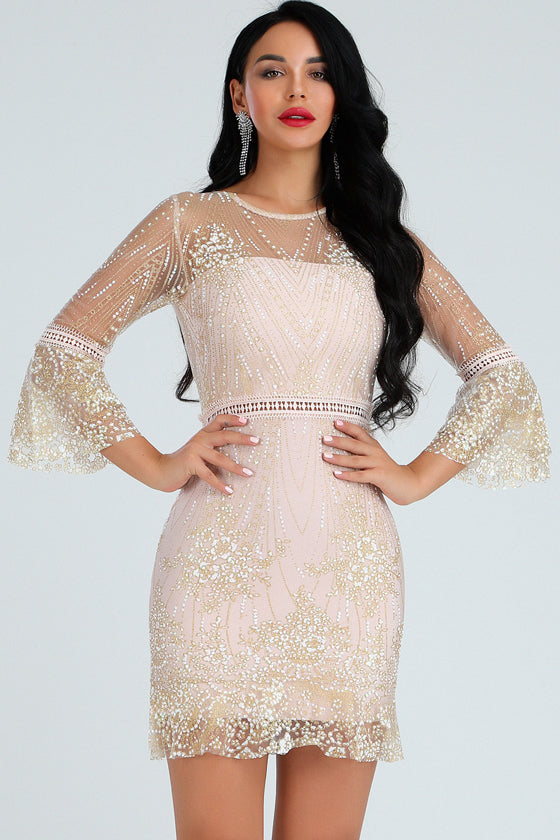 Long Sleeve Lace A word dress 2019 summer