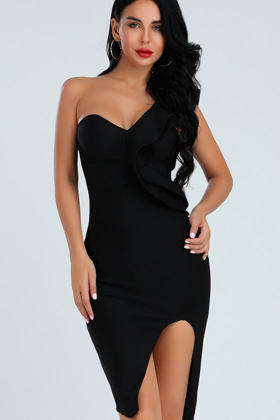 Black Sexy Night Club Bandage Dress