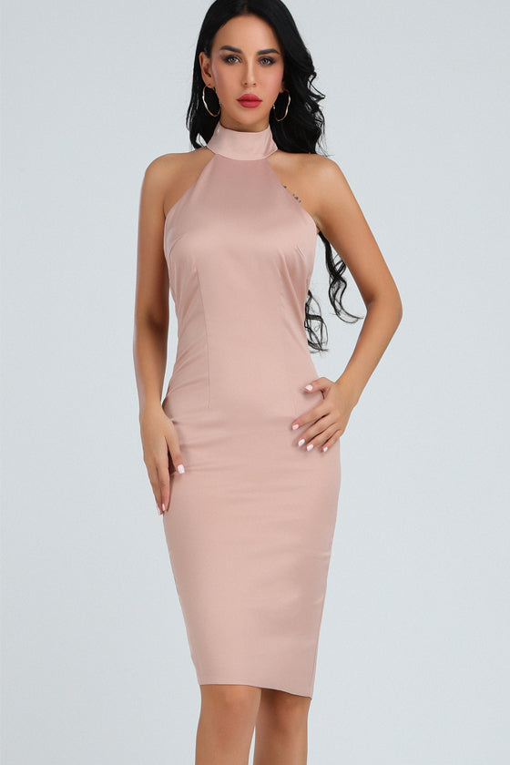 Sleeveless  V Neck Bandage  Bodycon Dress