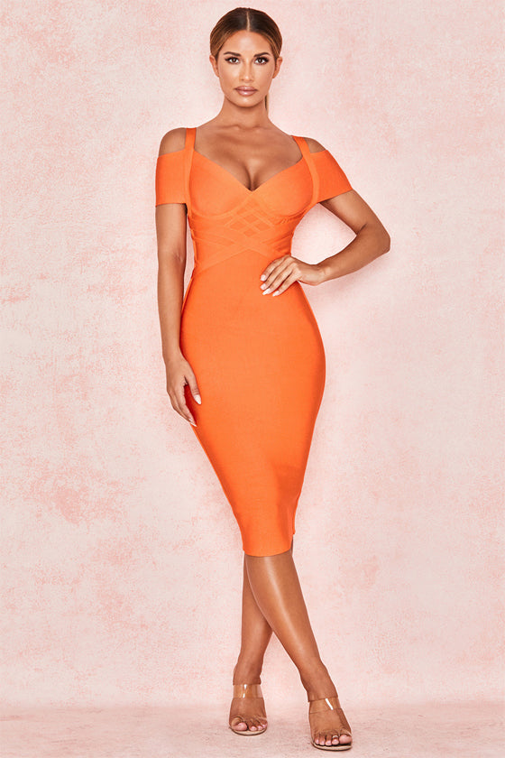 Wholesale Spaghetti Strap Solid Women Bandage Dresses