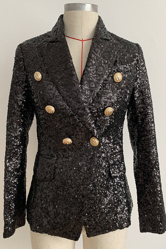 Beads Sequins Slim Small Suit 2019 women's jacket