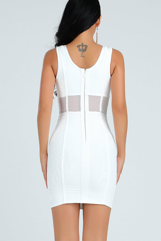 Bandage Bodycon V Neck Sexy Evening Party Dress