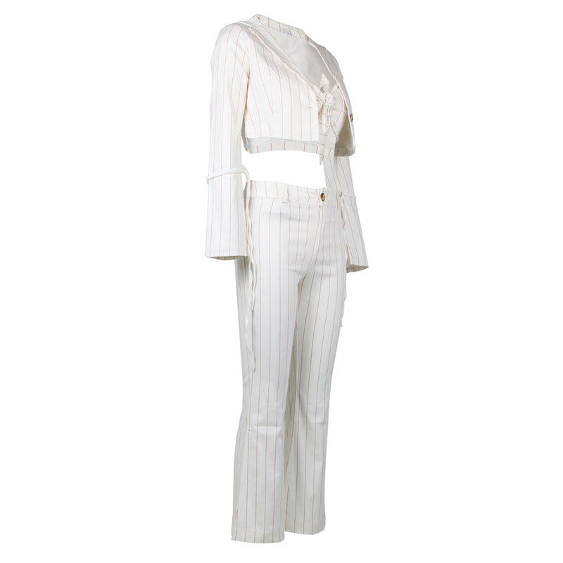 Striped Suit Women  Thin Ladies
