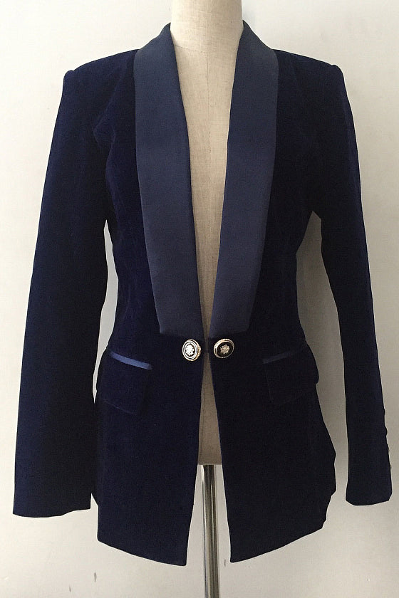 Slim Velvet Suit Jacket Female New of The Velvet Small Suit