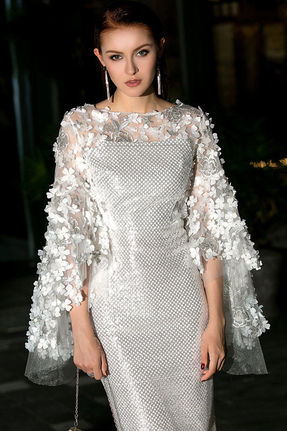 Sequins Embroidered Three-dimensional Dress