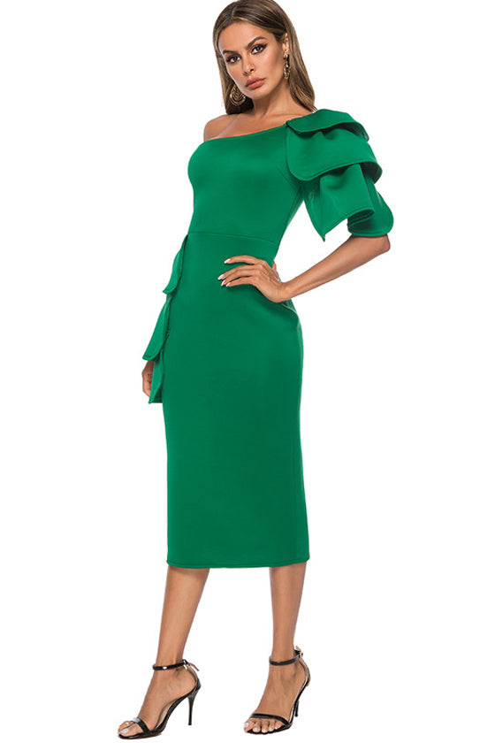 strapless sexy bag hip skirt dress  Bodycon Green  Sexy Party Dresses