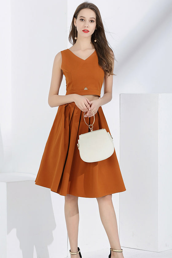 Set Fashion Two-piece Sleeveless Vest + Skirt Set women's 2019 summer new temperament