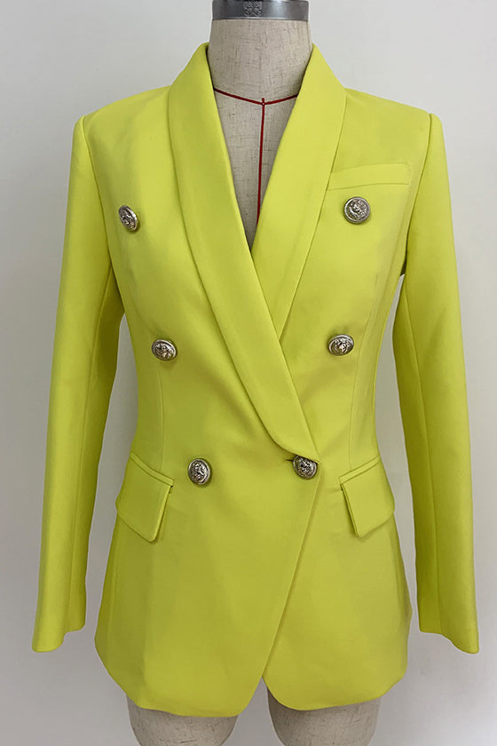 Ladies Jackets Yellow Long Suit  Spring Fall 2019