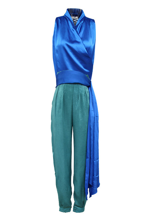 suit female Pencil pants trouser suits Vest sleeveless With belt