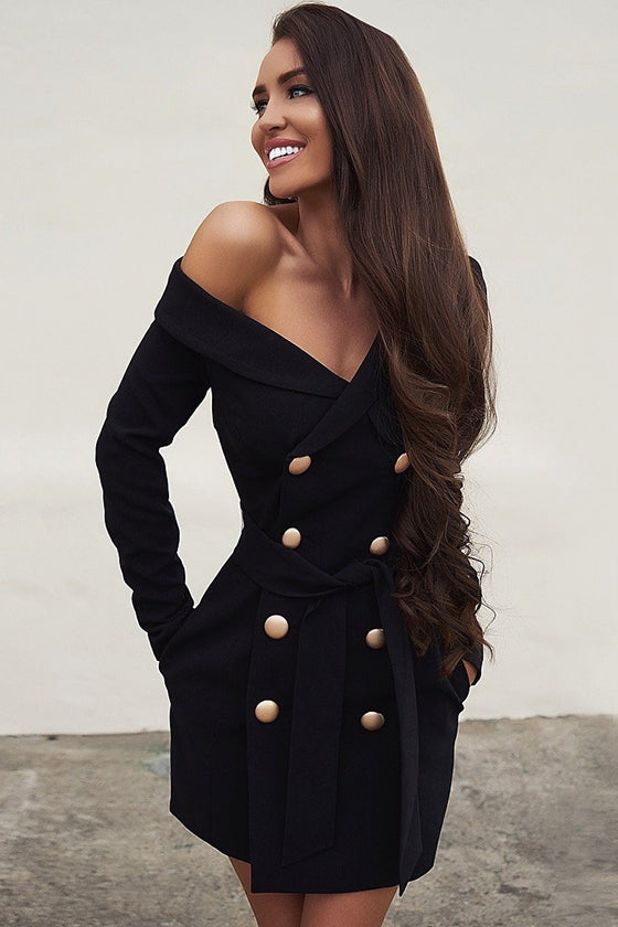 Off Shoulder Long Sleevees Dress