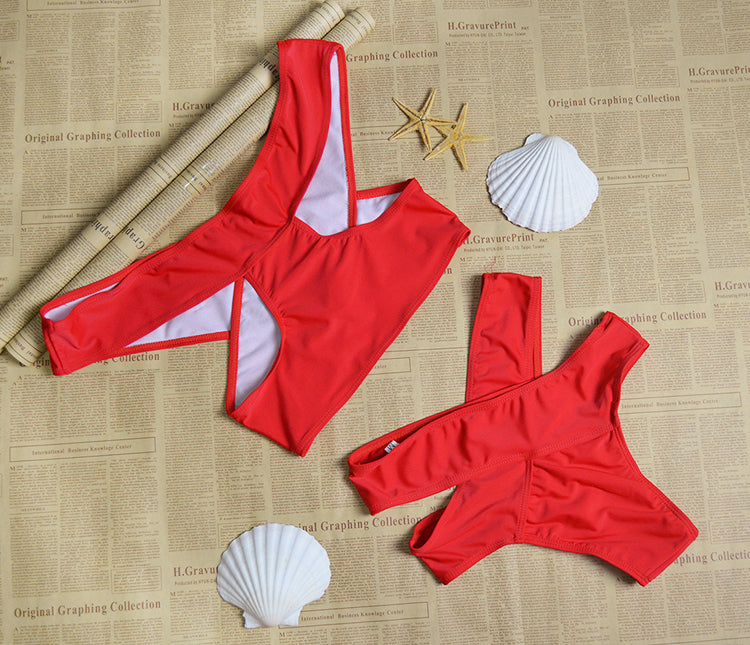 Sexy Red 2 pieces Beachwear