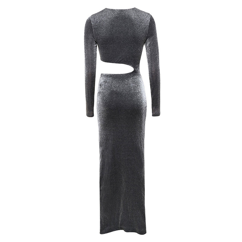 Long Sleeve Hollow Out Women Dress