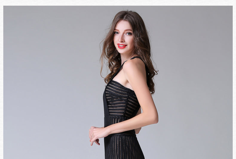 Black Halter Ladies Fashion Dress