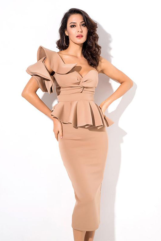 Waist Tie Long Sleeve Big Swing PU Dress