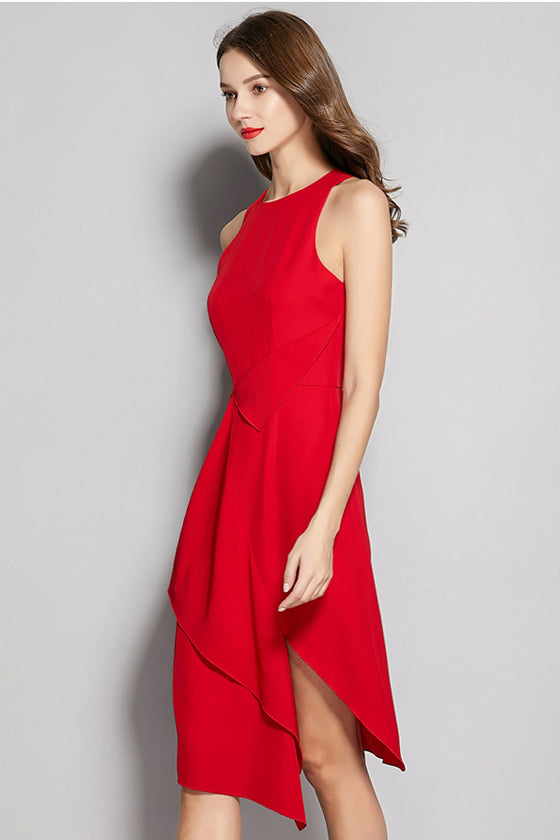 Irregular Slim Sleeveless Vest Dress