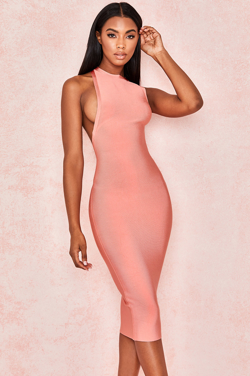 Fashion Turtleneck Sleeveless Bandage Dress