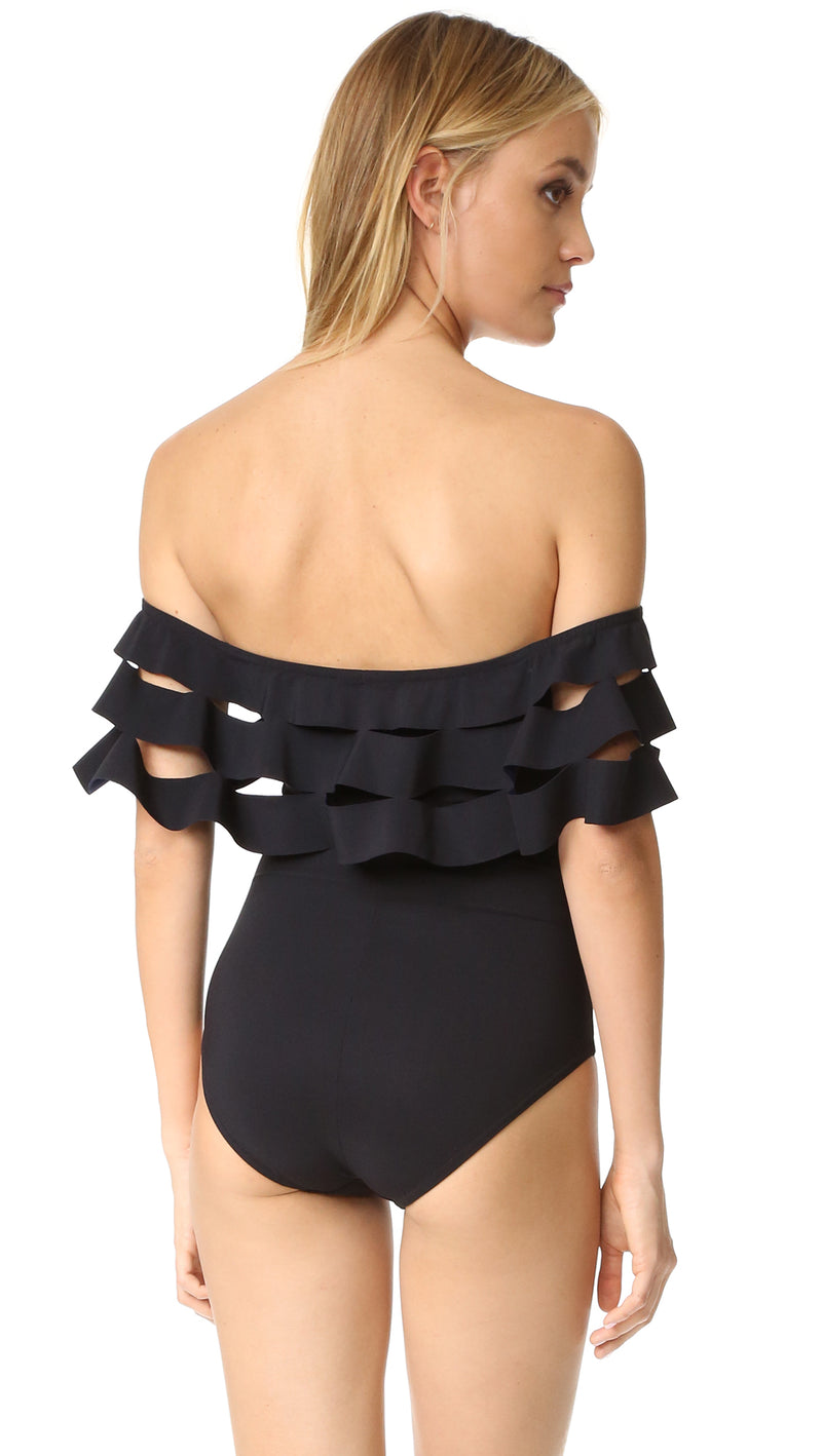 Ruffle Off Shoulder Beachwear