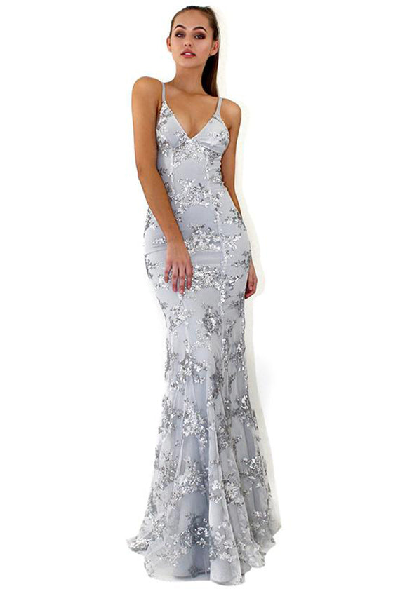 Elegant Floor Length Evening Dress