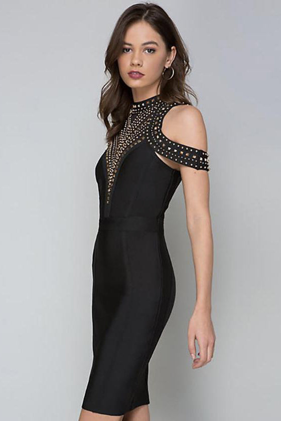 Beading Bandage Bodycon Dress