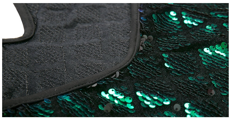 Sparkly Green Sequin Dress